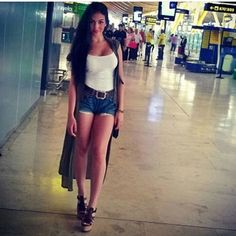 Ibiza, Cristiano Ronaldo Novia, Girlfriends, Skater Skirt, Fashion Outfits, Boho, Denim, Sexy, Clothes