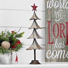 This Galvanized Metal Red Star Tree fits onto either a rustic or farmhouse Christmas shelf. You won't need another tree with the shine from this! Tree Wall Decor, Art Decor, Painting Shower, Popular Crafts, Metal Tree Wall Art, Metal Art, Christmas Decorations, Holiday Decor, Holiday Ideas