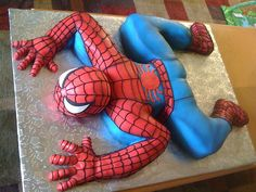 Spiderman Cake by Everything Cake, via Flickr Freakin Awesome!!!