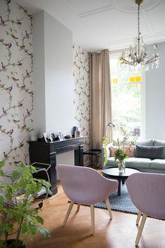 Femkeido Interior Design - project Leiden Cozy Living Rooms, Living Room Interior, Home And Living, Living Room Decor, Billy Regal, Cozy Reading Corners, Ikea, Deco Design, Diy Room Decor