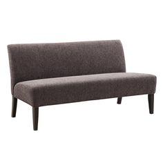 INSPIRE Q Wicker Park Dark Grey Chenille Armless Sofa - Overstock™ Shopping - Great Deals on INSPIRE Q Sofas & Loveseats