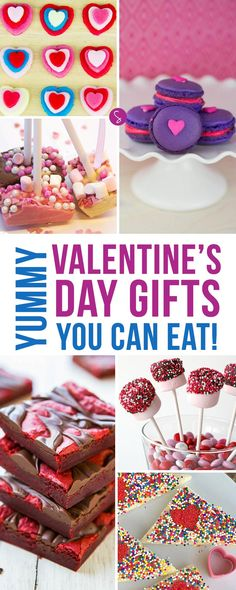Oh YUMMY so many delicious edible Valentine's Gifts for us to make!