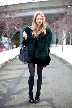 forest fur coat #fashion