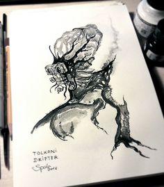 INKTOBER #5 - Tolkani Drifter