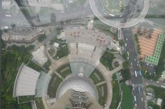 A view from The Oriental Pearl Radio & TV Tower in Shanghai China