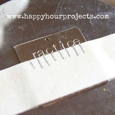 metal stamping tips for jewelry. Lots of good information for beginners.