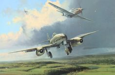 Running The Gauntlet, by Robert Taylor (Me 262 vs P-51D Mustang)