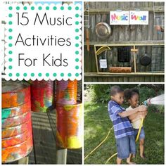 15 Musical Crafts and Activities for Kids. LOVE THESE!
