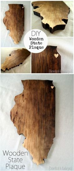 DIY Wooden State Plaques make the perfect handmade gift and home decor accent. Take a look!