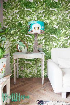 CYBER MONDAY 30% OFF Aralia Leaves Pattern Wallpaper/Removable Wallpaper/Monstera Leaves Wallpaper/Fern Wall Sticker/Aralia Self Leaves Adhe