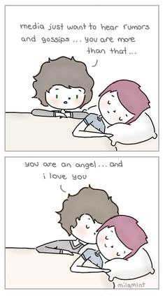 one direction cartoon | One Direction - Larry Stylinson by milamint on deviantART