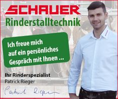 Patrick Rieger, einer der freundlichen Experten von Schauer, für artgerechte Rinderhaltung. Rinder Stall, Freundlich, Beef Farming