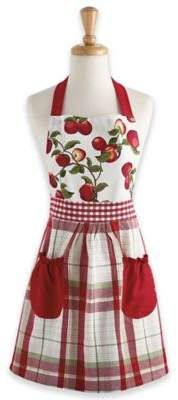 Take some retro charm from the kitchen to your holiday table with the Apple Orchard Apron from Design Imports. Made of cotton, the apron is machine washable. Homemade Aprons, Jean Apron, Childrens Aprons, Cool Aprons, Gardening Apron, Linen Apron, Sewing Aprons, Half Apron, Apron Designs
