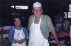 """Hisako and Thurman Roberts Founders of The Salt Lick in Driftwood, Texas. """"He was a Chief Petty Officer [during World War II] and the jeep came with the office and he was driving around one day and happened to bump into her at the General Store at Nawiliwili Harbor,"""" said son Scott. The two got married and moved to Thurman's hometown of Driftwood and started cooking and selling barbecue on their property."""