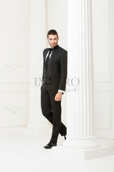 BA 2225-16 #sposo #groom #suit #abito #wedding #matrimonio #nozze #nero #black