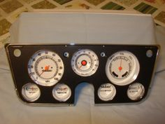 Restored Tach Dash With White Faces For 67-72 Chevy, Gmc Truck, Blazer Or Sub