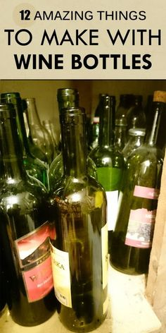 12 Amazing Things To Make With Wine Bottles glass bottle crafts 12 Amazing Things To Make With Wine Bottles Liquor Bottle Crafts, Empty Wine Bottles, Wine Bottle Corks, Painted Wine Bottles, Diy Bottle, Diy With Wine Bottles, Recycle Wine Bottles, Decorating Wine Bottles, Diy Projects With Wine Bottles