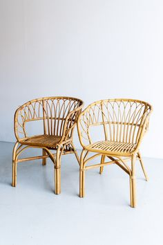 vintage bamboo chairs #vintage #chair #bamboo #rattan