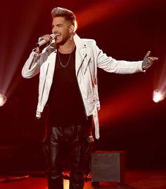 Adam Lambert performs onstage at FOX's American Idol Season 15 on March Adam Lambert, American Idol, News Songs, Rolling Stones, Fox, Leather Jacket, The Incredibles, Singer, Seasons