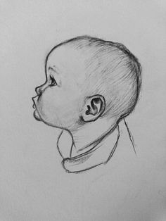 drawing ideas pencil # Portrait 27 Pencil Drawing Portrait Of Baby Ideas 27 lead Easy Pencil Drawings, Art Drawings Sketches Simple, Realistic Drawings, Cartoon Drawings, Creative Sketches, Pencil Drawing Inspiration, Drawing Ideas, Drawing Drawing, Desenho Tattoo