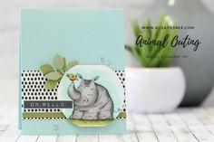 Sneak Peek at Animal Outings (Alisa Tilsner) Hand Stamped Cards, Stampin Up Catalog, Beautiful Handmade Cards, Bird Cards, Animal Cards, Handmade Birthday Cards, Stamping Up, Rubber Stamping, Paper Cards