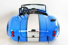 Backdraft Racing - Grabber Blue with Silver Stripes