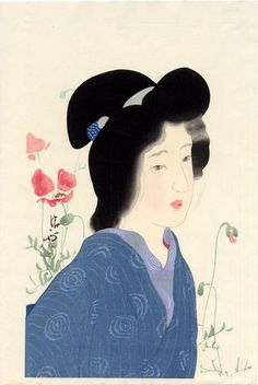 Kaburagi Kiyokata: Girl with Poppies