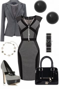 Pencil dress.. great office look..