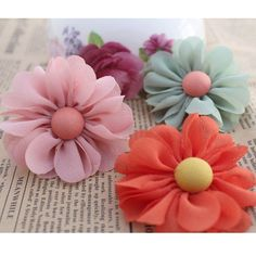 Aliexpress.com : Buy 52pcs/lot DIY hair accessory corsage bags shoe flower head handmade chiffon cloth beans rose 12 colors wholesale free shipping from Reliable silk orchid suppliers on Lore 's Decoration Flowers Store. $36.99