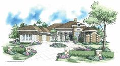Italianate House Plan with 3954 Square Feet and 3 Bedrooms from Dream Home Source | House Plan Code DHSW42388
