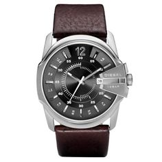 4843a8330537 Buy Diesel DZ1206 Gents Grey Dial Brown Leather Strap Watch at  http   salemall