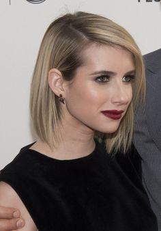 Emma Roberts shoulder-length bob hairstyle inspiration