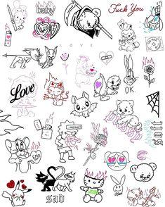 Kritzelei Tattoo, Doodle Tattoo, Poke Tattoo, Piercing Tattoo, Piercings, Big Tattoo, Sketch Tattoo Design, Mandala Tattoo Design, Tattoo Sketches