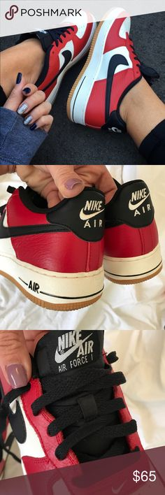 c296e6614 EUC NIKE AIR FORCE ONE SIZE 7y | 8.5 women Excellent used condition (worn  once for photo shoot) AIR FORCE 1 LEATHER. ➡️ORDER YOUR WOMANS SHOE SIZE  Size 7 ...