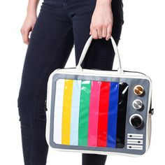 TV Stripe Laptop Bag, $25, now featured on Fab.