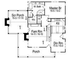 The Wells Branch Cabin Farmhouse has 3 bedrooms, 3 full baths and 1 half bath. See amenities for Plan 082D-0065.