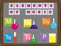 Elements of music bulletin board-chemistry theme $3