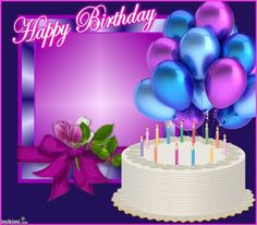 happy birthday cakes and balloons images - Bing images