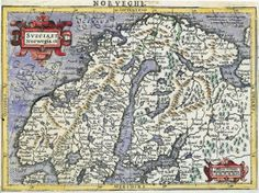 Old map for Norway and Sweden Antique World Map, Old World Maps, Old Maps, Antique Maps, Vintage Maps, Sweden Map, Norway Map, North Europe, Europe Europe