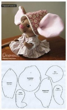 Ideas For Sewing Toys Patterns Christmas Ideas For … - Stofftiere Felt Crafts, Fabric Crafts, Sewing Crafts, Sewing Projects, Mouse Crafts, Felt Mouse, Diy Couture, Fabric Toys, Sew Toys