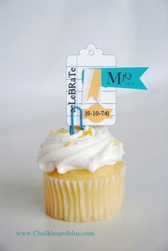 Loving the use of a paper clip to hold embellish the cupcake. Simple goodness with endless possibilities.