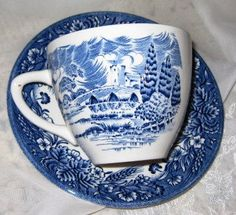 English Wedgewood Teacup & Churchill Saucer MINT by ChinaGalore, $8.50