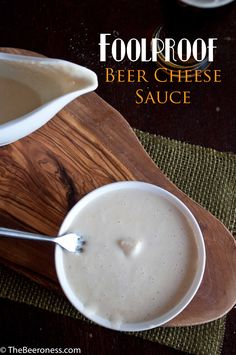 Five Minute Foolproof Beer Cheese Sauce. Does your beer cheese separate into a gloppy mess? Well, let me help you with that.