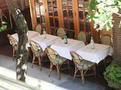 NYC places we loved (a beautiful, shady, street side terrace)