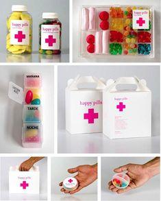 Quand le packaging sert la culture de marque - Jouer au docteur en se prescrivant quelques douceurs... (vu chez disko.fr)