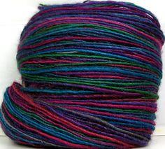 Kitty Grrlz HandSpun Yarn BFL wool and silk single ply yarn - see all Kitty Grrlz yarns here - http://www.etsy.com/shop/kittygrrlz