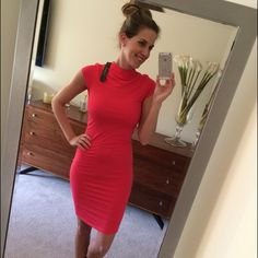 NWT STUNNING Bodycon style dress - M Gorgeous color.  This fits beautifully and feels AMAZING! Will fit S or M because it has nice stretch. Double lined. I bought two colors of this style. Not sure I'm ready to part with either but I have yet to wear them anywhere so putting it out here. PRICE FIRM. No trades please, thx!  Dresses
