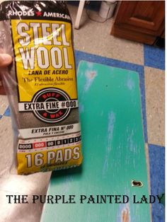 Want your pieces painted with Chalk Paint® and CLEAR Waxed to feel smooth as glass? Try our Steel Wool Grade 000