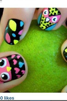 Owl nails !!!