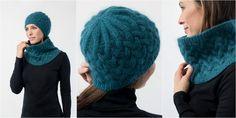 Комплект шапка и снуд спицами интересными косами Rise из коллекции SHIBUI KNITS. Плывущие шелковые облака переплелись в узор из кос для создания уникального полотна. Такой комплект всегда будет востребован для создания любого образа.